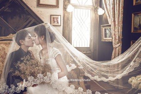 彩虹同性婚紗