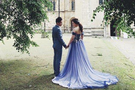 倫敦新人 - 英國婚紗旅拍造型紀錄