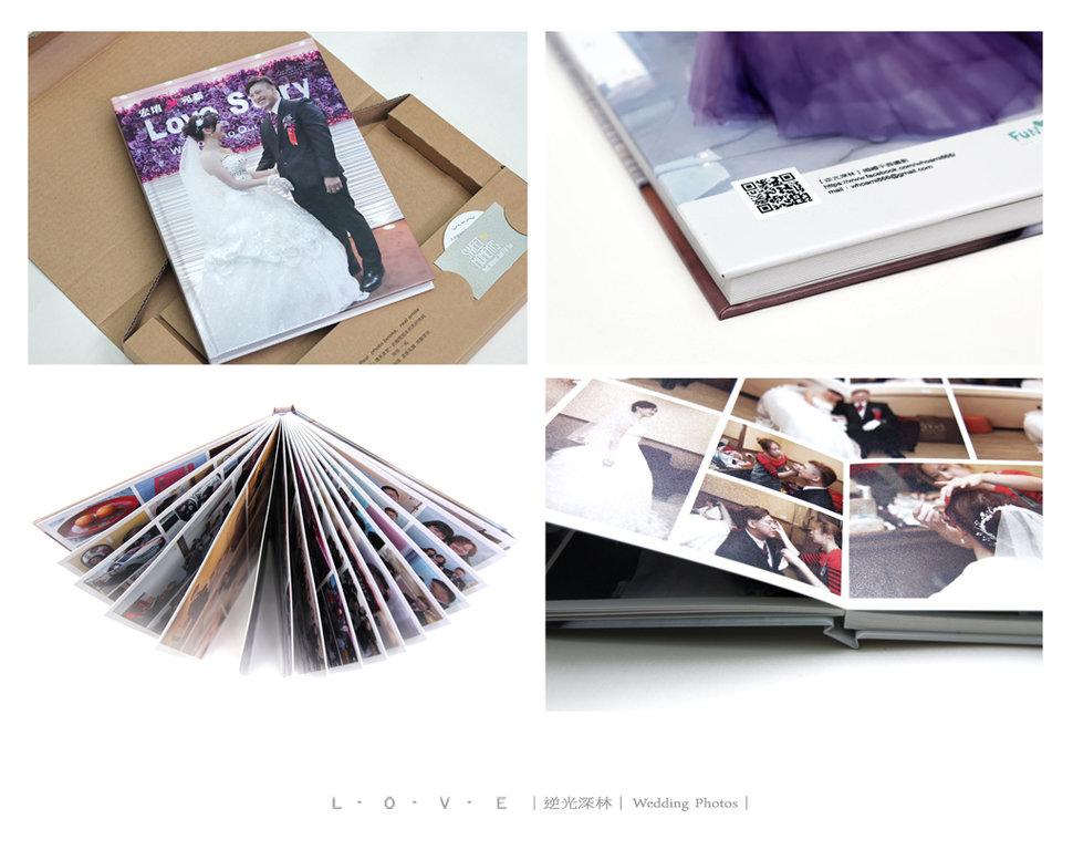 寫真書樣品-A4_直式32頁蝴蝶本加購價2500元 - 【逆光深林】婚禮攝影《結婚吧》