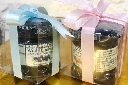 透明盒裝法國聖桃園天然果醬
