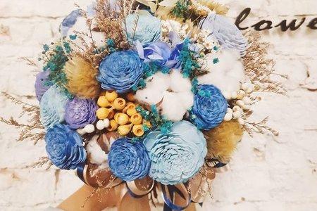 新娘捧花(藍色系)