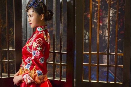 [花開並蒂]-中式禮服訂製&秀禾服出租