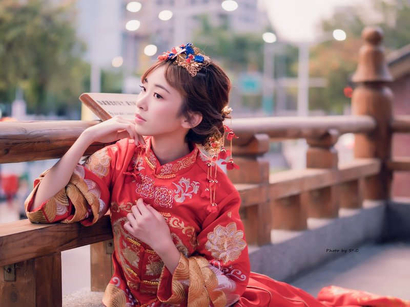 秀禾服/龍鳳裝/長馬褂/復古裝/繡和服