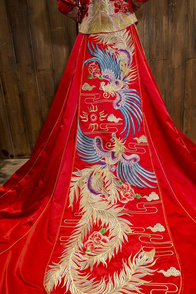 中式婚紗/秀鳳中式婚紗禮服秀禾服/龍鳳裝