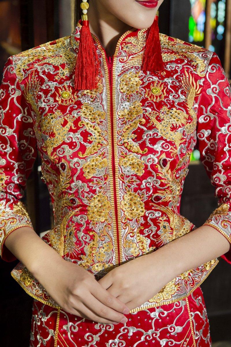 秀鳳中式婚紗禮服方案 拍照服+宴客服作品