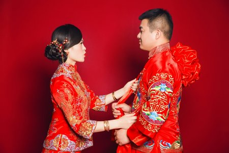 [客戶實拍]中式禮服-秀禾服