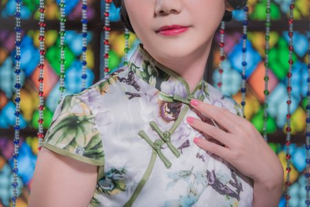 中式旗袍(綠)