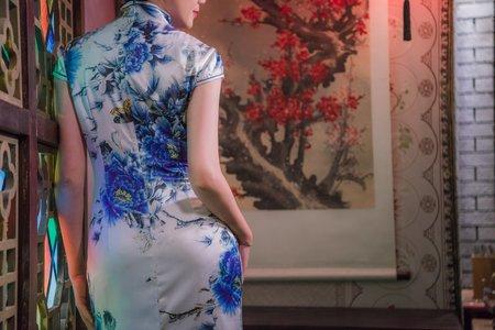 中式旗袍(藍)