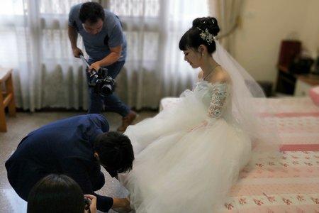氣質的高髮髻新娘造型