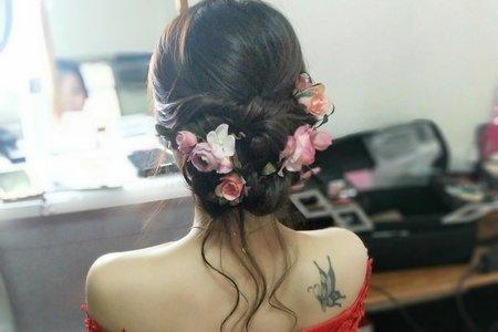 台中新娘秘書小鳳Fong-Anka 甜美試妝側拍記錄