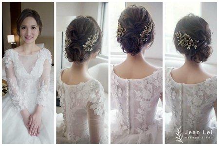 白紗線條低盤髮