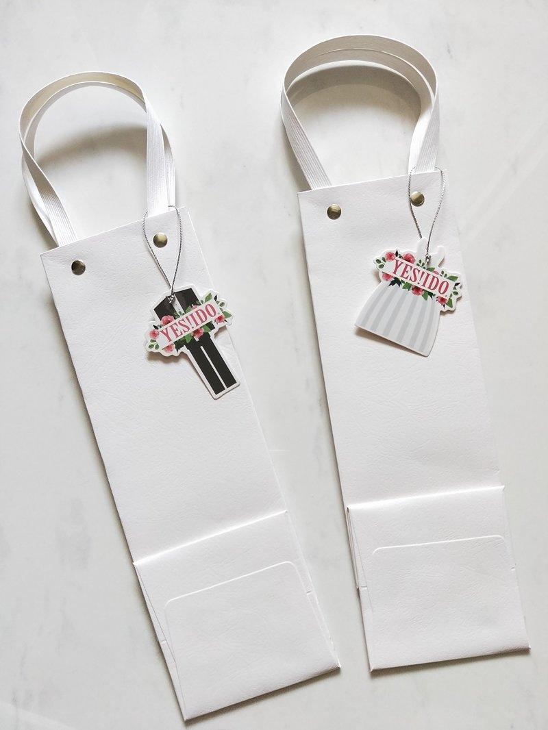 法式婚禮乾燥花簽名筆禮袋組作品