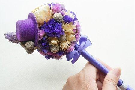 法式婚禮乾燥花簽名筆禮袋組