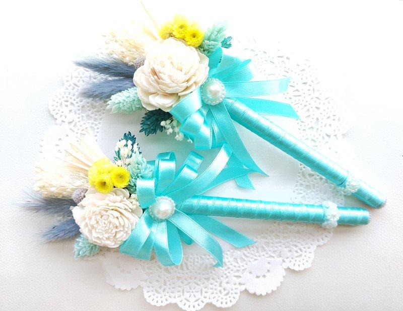 K12-婚禮乾燥花簽名筆作品