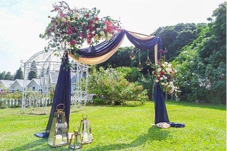 藍色風-戶外婚禮