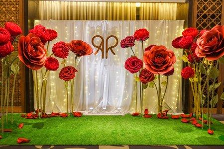 台南晶英酒店-紅色紙花佈置