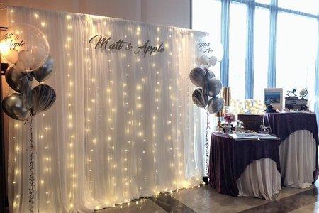 燈串紗幔婚禮佈置