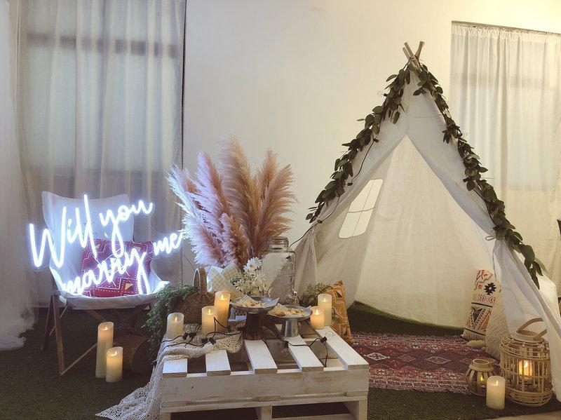 求婚道具 派對道具 露營風道具作品