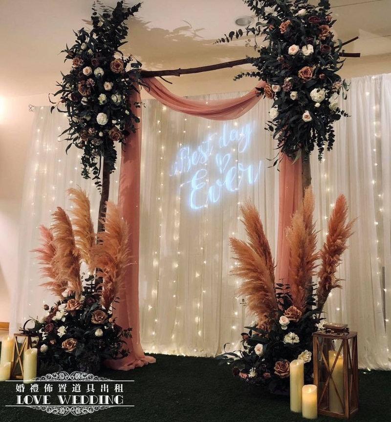 燈串紗幔婚禮佈置~限專人進撤場作品