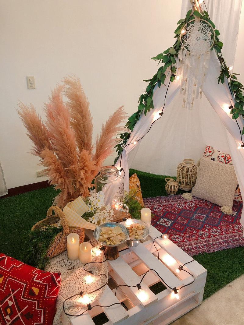 波西米亞風道具 露營風道具 派對道具作品