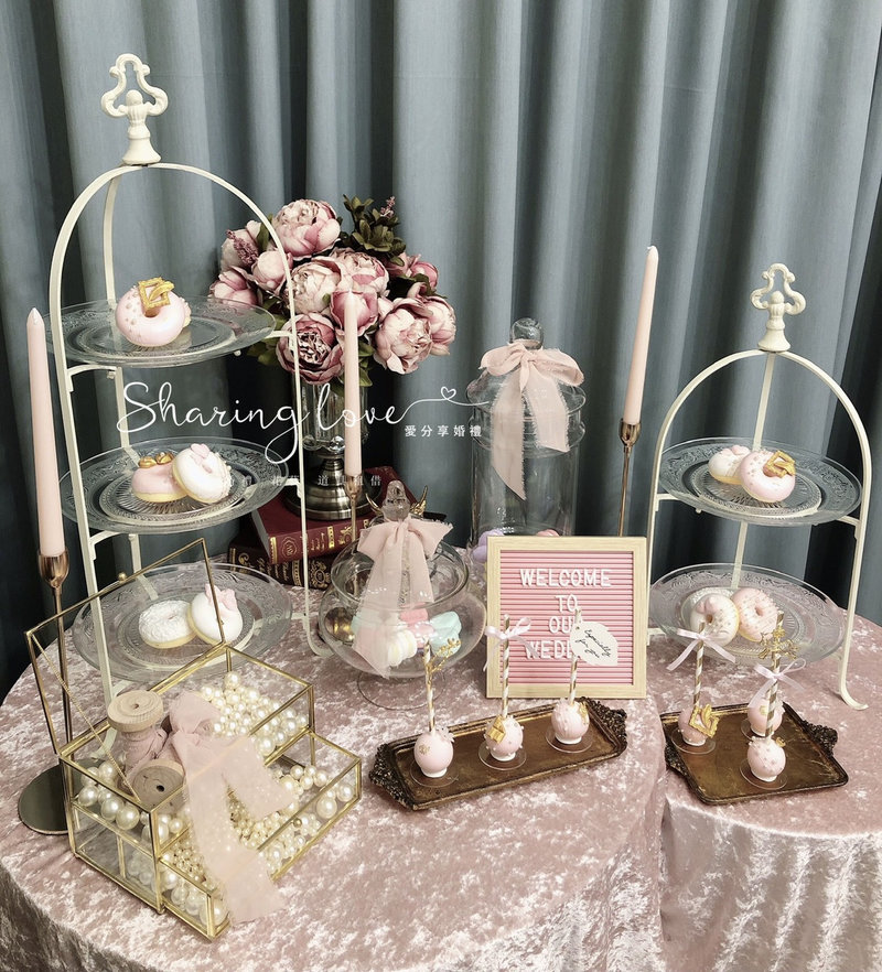 歐式candy bar 歐式糖罐 蛋糕盤作品