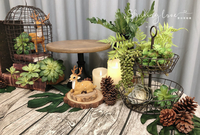 森林系 派對道具 周歲 生日派對道具作品