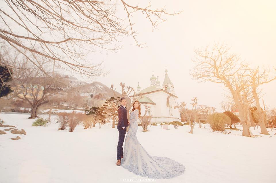 說故事的婚禮攝影-江宜學,擁有著神團隊加持的北海道自助婚紗