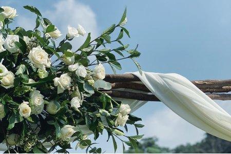 婚顧、佈置作品-西湖渡假村/拱門花藝/婚禮佈置