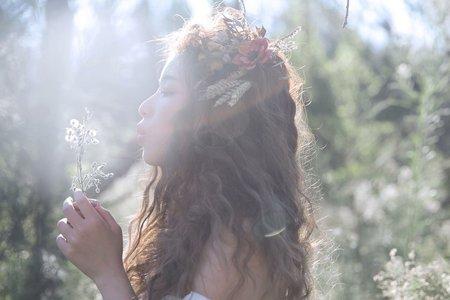 妝髮創作-森林系少女乾燥花