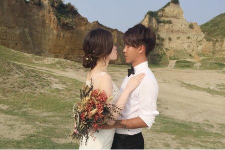 婚紗拍攝-白紗低盤髮