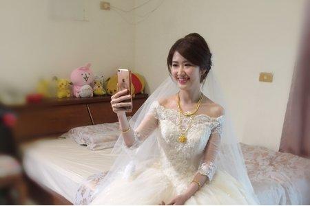 新秘現場造型-韓風白紗低盤髮