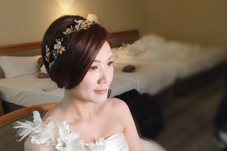 新秘現場作品-短髮新娘