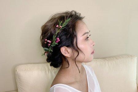妝髮作品-編髮盤髮