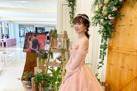婚禮現場作品-森林感編髮