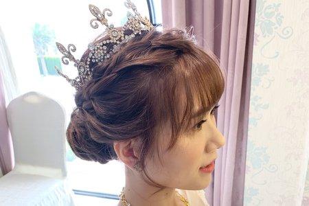 婚禮現場作品-編髮盤髮