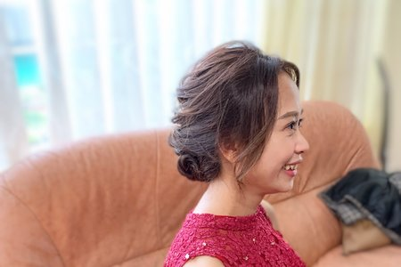 婚禮現場作品-線條低盤髮