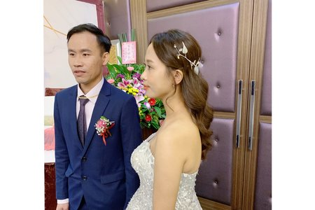 婚禮現場作品-浪漫放髮