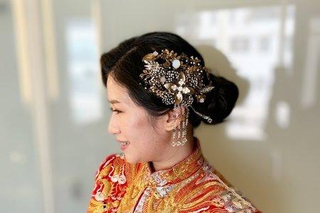 婚禮現場作品-低盤髮