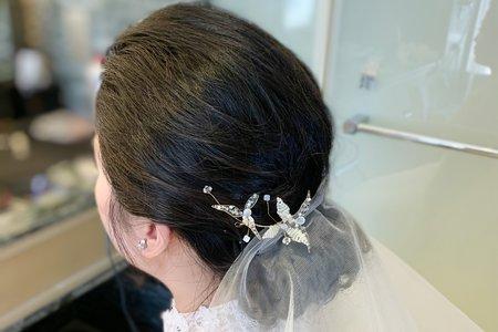 婚禮現場作品-乾淨低盤髮