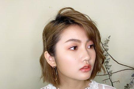 妝髮作品-短髮新娘