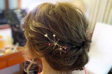 婚禮現場作品—低盤髮