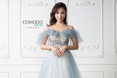 藍色輕婚紗
