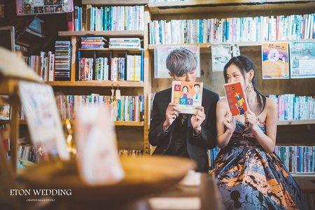 秘戀復古書店-桃園新竹拍婚紗-伊頓自助婚紗推薦❤️
