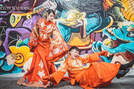 中壢拍婚紗 | 中式婚紗照