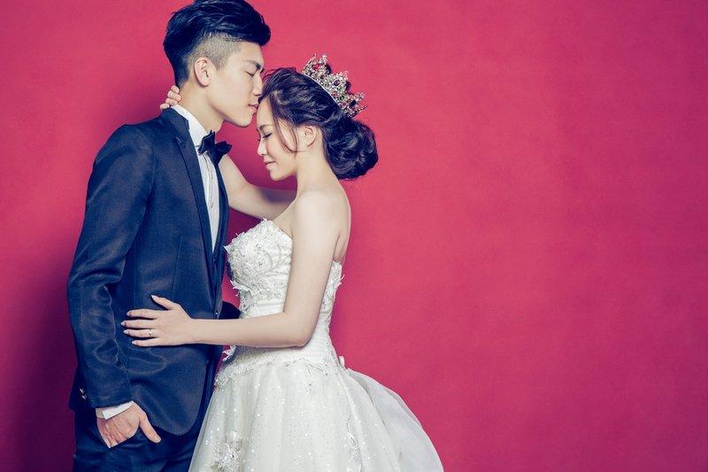 新竹婚紗棚拍【心心相印】室內攝影棚作品