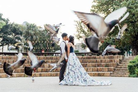 清新風格婚紗照