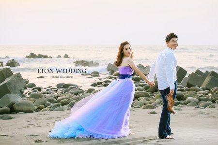 夢幻漸層系禮服💜-C&W婚紗照分享-高雄伊頓自助婚紗