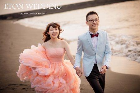 💗與妳漫步在沙灘💗-高雄婚紗伊頓推薦