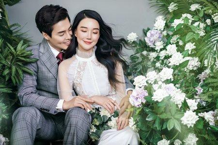 《韓式婚紗攝影》-林園綠植