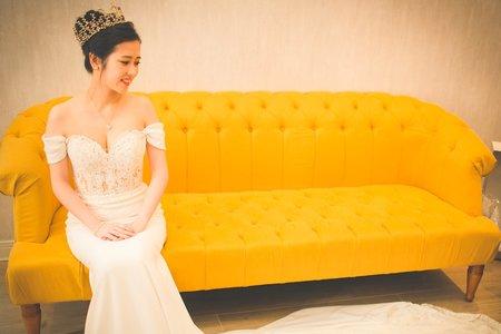 鄭佳瑋-甜美優雅的浪漫婚禮造型